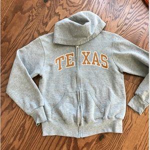 Women's gray TEXAS Longhorns Zipper front hoodie